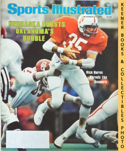 Image for Sports Illustrated Magazine, November 20, 1978 (Vol 49, No. 21) : Nebraska Bursts Oklahoma's Bubble - Rick Berns Shreds the Sooners
