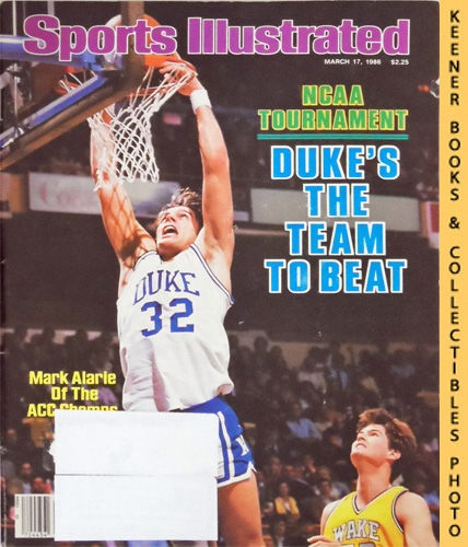 Image for Sports Illustrated Magazine, March 17, 1986 (Vol 64, No. 11) : NCAA Tournament - Duke's The Team To Beat