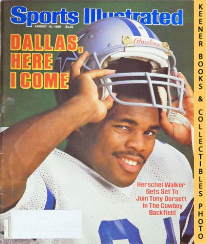 Image for Sports Illustrated Magazine, August 18, 1986 (Vol 65, No. 7) : Dallas, Here I Come - Herschel Walker Gets Set To Join Tony Dorsett In The Cowboy Backfield