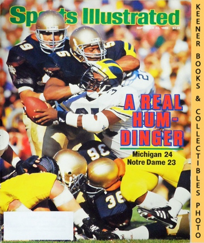 Image for Sports Illustrated Magazine, September 22, 1986 (Vol 65, No. 13) : A Real Hum-Dinger - Michigan 24 Notre Dame 23