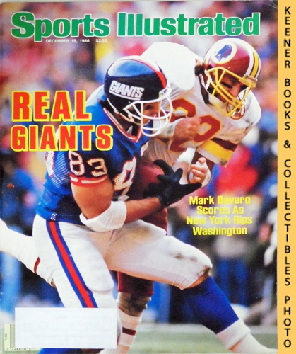 Image for Sports Illustrated Magazine, December 15, 1986 (Vol 65, No. 26) : Real Giants - Mark Bavaro Scores As New York Rips Washington