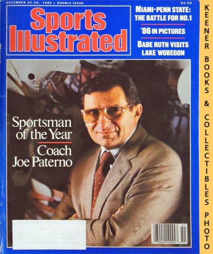 Image for Sports Illustrated Magazine, December 22-29, 1986 (Vol 65, No. 27) Double Issue : Coach Joe Paterno - Sportsman of the Year