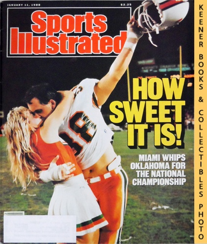 Image for Sports Illustrated Magazine, January 11, 1988 (Vol 68, No. 1) : How Sweet It Is! Miami Whips Oklahoma For The National Championship