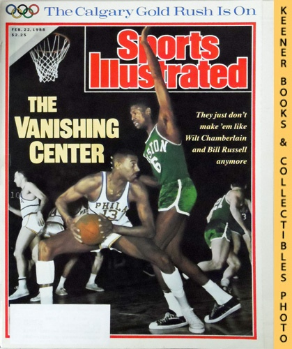 Image for Sports Illustrated Magazine, February 22, 1988 (Vol 68, No. 8) : The Vanishing Center - They Just Don't Make 'Em Like Wilt Chamberlain and Bill Russell Anymore