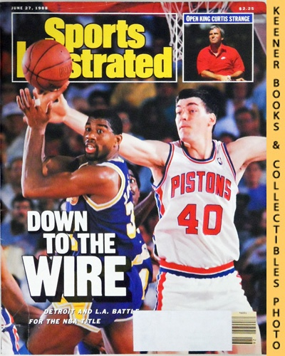 Image for Sports Illustrated Magazine, June 27, 1988 (Vol 68, No. 26) : Down To The Wire - Detroit And L.A. Battle For The NBA Title