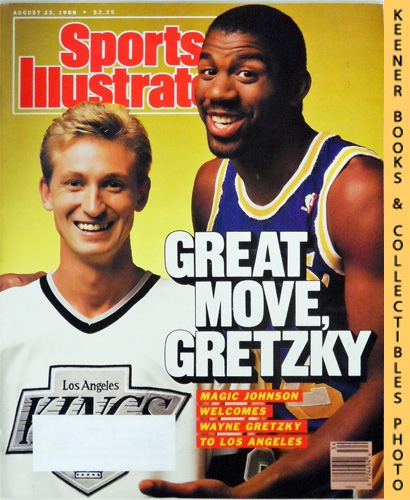Image for Sports Illustrated Magazine, August 22, 1988 (Vol 69, No. 8) : Great Move, Gretzky - Magic Johnson Welcomes Wayne Gretzky To Los Angeles