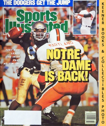 Image for Sports Illustrated Magazine, October 24, 1988 (Vol 69, No. 18) : Notre Dame Is Back! Tony Rice Leads The Irish Past No. 1 Miami
