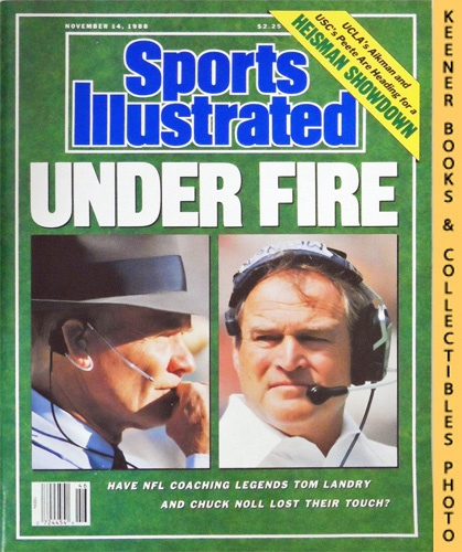Image for Sports Illustrated Magazine, November 14, 1988 (Vol 69, No. 21) : Under Fire - Have NFL Coaching Legends Tom Landry And Chuck Noll Lost Their Touch?