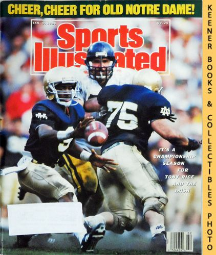 Image for Sports Illustrated Magazine, January 9, 1989 (Vol 70, No. 1) : It's A Championship Season For Tony Rice and The Irish
