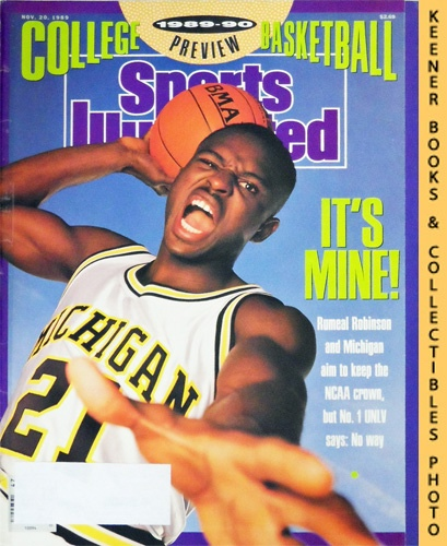 Image for Sports Illustrated Magazine, November 20, 1989 (Vol 71, No. 21) : Rumeal Robinson and Michigan Aim To Keep The NCAA Crown, But No. 1 UNLV Says: No Way