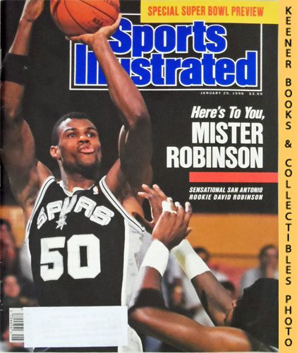 Image for Sports Illustrated Magazine, January 29, 1990 (Vol 72, No. 4) : Sensational San Antonio Rookie David Robinson