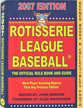 Image for Rotisserie League Baseball 2007 (The Official Rule Book And Guide)