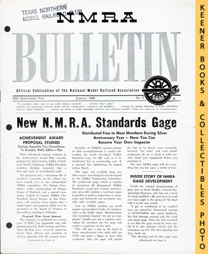 Image for NMRA Bulletin Magazine, January 1960 (25th Anniversary Year No. 5): Official Publication of the National Model Railroad Association Series
