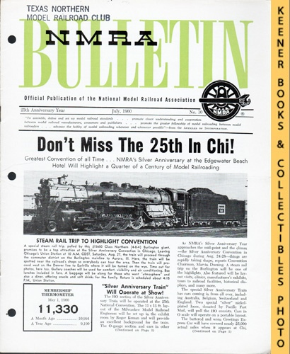 Image for NMRA Bulletin Magazine, July 1960 (25th Anniversary Year No. 10): Official Publication of the National Model Railroad Association Series