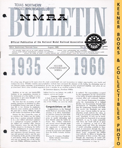 Image for NMRA Bulletin Magazine, August 1960 (25th Anniversary Year No. 11): Official Publication of the National Model Railroad Association Series