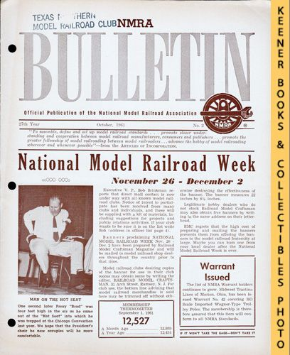 Image for NMRA Bulletin Magazine, October 1961 (27th Year No. 2): Official Publication of the National Model Railroad Association Series