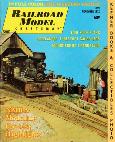 Image for Railroad Model Craftsman Magazine, November 1972 (Vol. 41, No. 6)