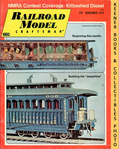 Image for Railroad Model Craftsman Magazine, November 1974 (Vol. 43, No. 6)
