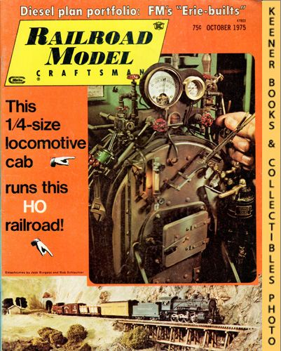 Image for Railroad Model Craftsman Magazine, October 1975 (Vol. 44, No. 5)