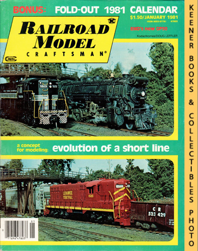 Image for Railroad Model Craftsman Magazine, January 1981 (Vol. 49, No. 8)