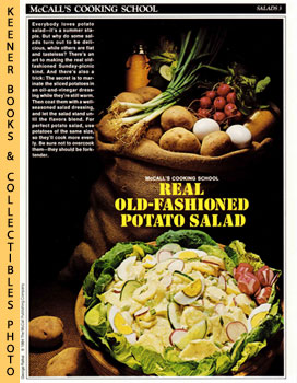 Image for McCall's Cooking School Recipe Card: Salads 3 - Old-Fashioned Potato Salad (Replacement McCall's Recipage or Recipe Card For 3-Ring Binders): McCall's Cooking School Cookbook Series