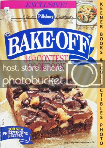 Image for Pillsbury Bake-Off 34th Contest Cookbook: Classic Cookbooks #110: Pillsbury Annual Bake-Off Contest Series