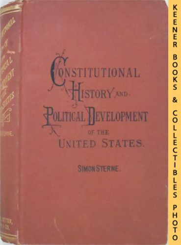 Image for Constitutional History And Political Development Of The United States