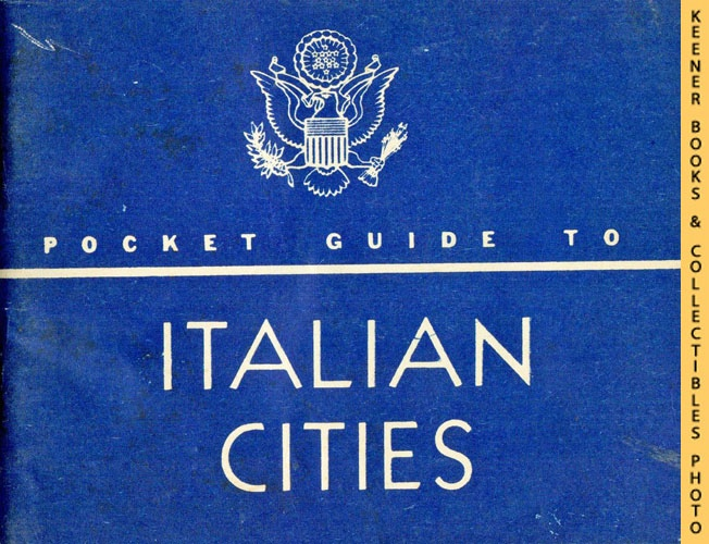 Image for Pocket Guide To ITALIAN CITIES: Special Service Div, US Army WWII Pocket Guides Series