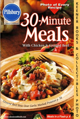 Image for Pillsbury Classic #259: 30-Minute Meals With Chicken & Ground Beef: Pillsbury Classic Cookbooks Series